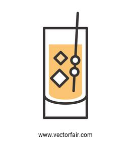 cocktail icon drink liquor fresh alcohol line and fill design