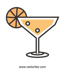 cocktail margarita icon drink liquor refreshing alcohol line and fill design
