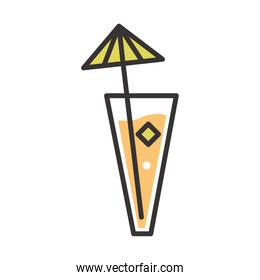cocktail icon refreshing drink liquor alcohol line and fill design