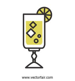 cocktail alcoholic beverage icon drink liquor line and fill design