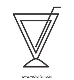 cocktail icon drink liquor refreshing alcohol line style design