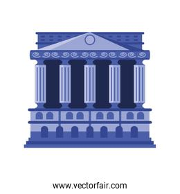 bank finance building on white background