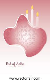 Eid al adha candles detailed style icon vector design
