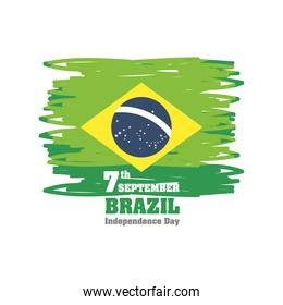 7th september Brazil independence day, banner or poster
