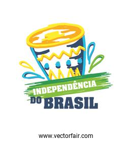 Brazil independence day celebration greeting card
