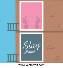 stay at home campaign with front of house