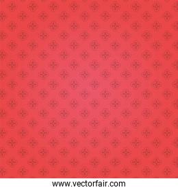flowers garden pattern with red background