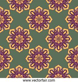 decorative floral colorful mandala ethnicity artistic pattern