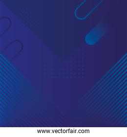 geometric figures and lines blue background