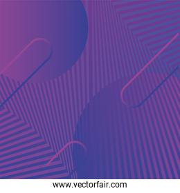 waves and forms purple background