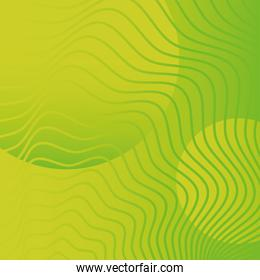 waves and forms green background