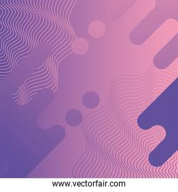 waves and forms purple color background