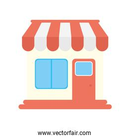 store building facade isolated icon