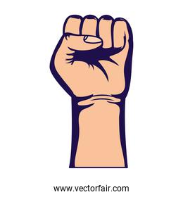 hand human fist protest icon