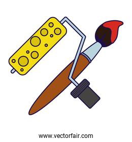 paint roller and brush equipment tools