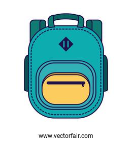 school bag equipment isolated icon