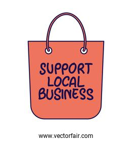shopping bag with local support business