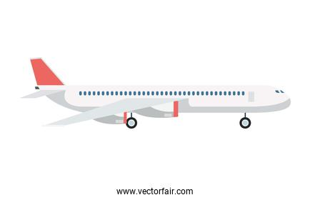 airplane transport airline isolated icon