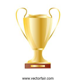 golden trophy cup award isolated icon