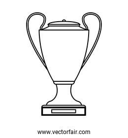 trophy cup award linear style icon