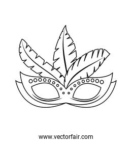 brazilian mask with feathers design