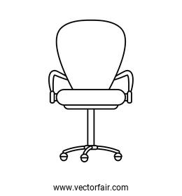 office chair furniture line style icon
