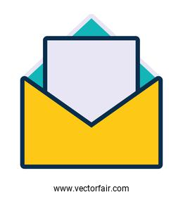 document envelope icon, line and fill style