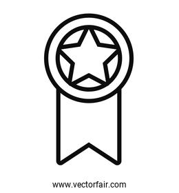 star medal icon, line style