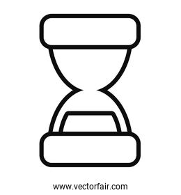 hourglass icon image, line style