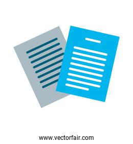 documents papers flat style icon vector design