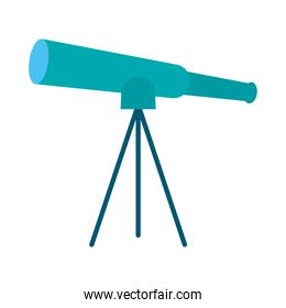 telescope flat style icon vector design