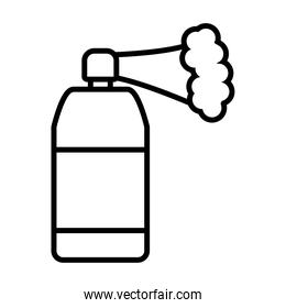 spray bottle with smoke line style icon vector design