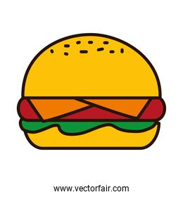 hamburger line and fill style icon vector design
