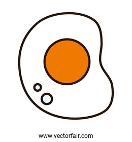 egg line and fill style icon vector design