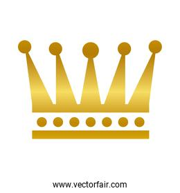 royal crown gold gradient style icon vector design