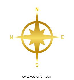 compass gold gradient style icon vector design