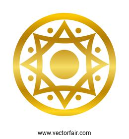 star ornament gold gradient style icon vector design