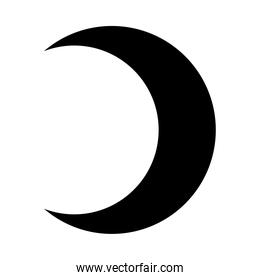 moon silhouette style icon vector design
