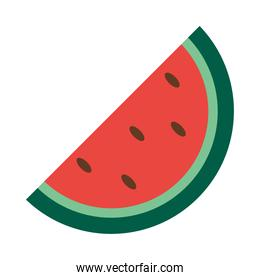 watermelon slice icon, flat style