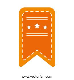 bookmark with decorative stars icon, flat style
