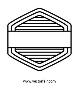 rhombus seal stamp icon, line style