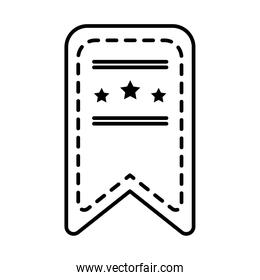 bookmark with decorative stars icon, line style