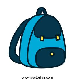 school backpack icon, fill and line style
