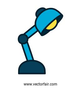 desk lamp icon, fill and line style