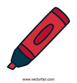 highlighter pen icon, fill and line style