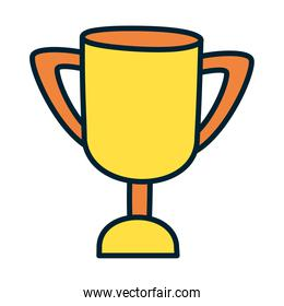 trophy cup icon, fill and line style