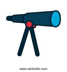 telescope tool icon, fill and line style