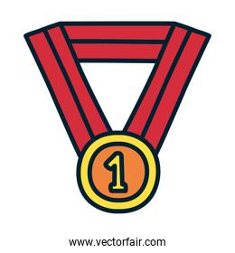 winner medal icon, fill and line style