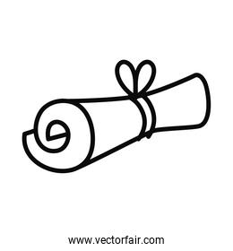 roll parchment icon, line style