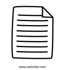 document page icon, line style
